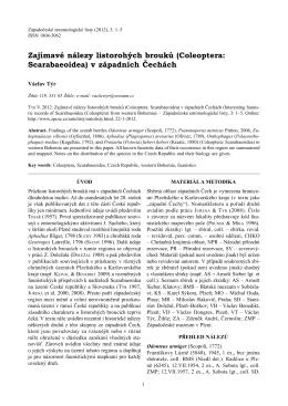 Zajímavé nálezy listorohých brouků (Coleoptera: Scarabaeoidea) v
