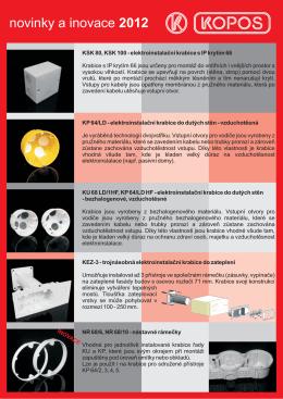 novinky a inovace 2012