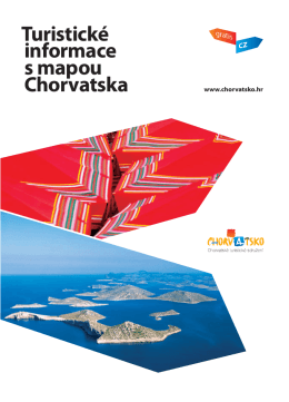 Turistické informace s mapou Chorvatska - Croatia.hr