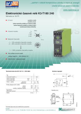 Elektronické časové relé K3-T180 240