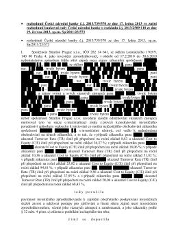 rozhodnutí České národní banky č.j. 2013/739/570 ze dne 17. ledna