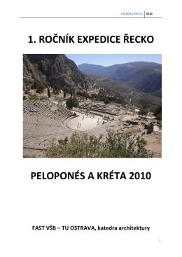 1. ročník expedice řecko peloponés a kréta 2010