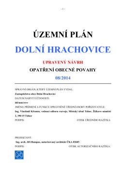 ÚP D. HRACHOVICE upr.návrh