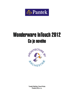 Wonderware InTouch 2012 - Co je nového