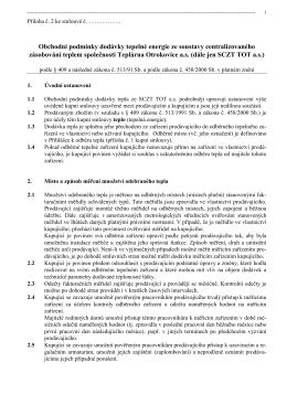 Teplárna Otrokovice a.s. Příloha č. 2