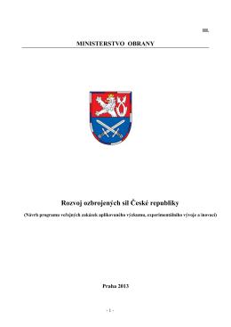 Rozvoj ozbrojených sil České republiky
