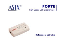 Referenční příručka pro FORTE