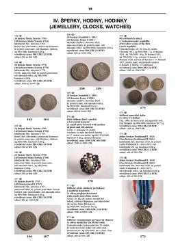 iv. šperky, hodiny, hodinky (jewellery, clocks, watches)