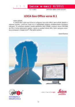 Leica Geo Office - nová verze 8.1