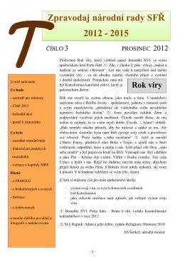 Zpravodaj 1/2013 - Sekulární františkánský řád