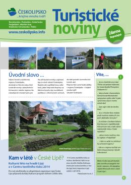 Letní turistické noviny 2014