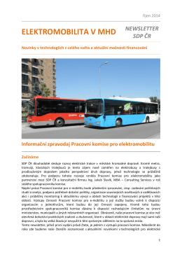 Zpravodaj Pracovní skupiny pro elektromobilitu říjen 2014