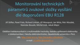 Monitorování hlasitosti modulace při televizním a rozhlasovém vysílání