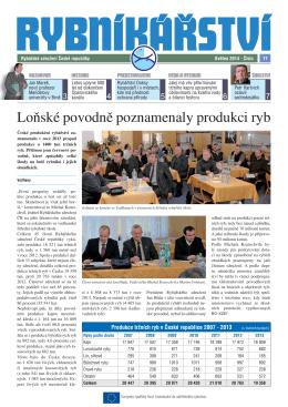 Noviny Rybníkářství 17. číslo - Rybářské sdružení České republiky
