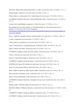 Napsali o nás 2013 - Regionální knihovna Karviná