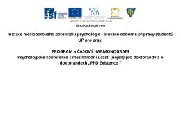 oficiální program konference