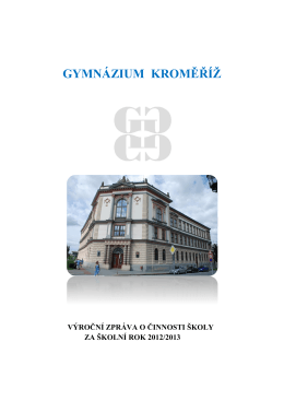 2012-2013 - Gymnázium Kroměříž
