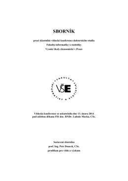Sborník 2014 - Fakulta informatiky a statistiky