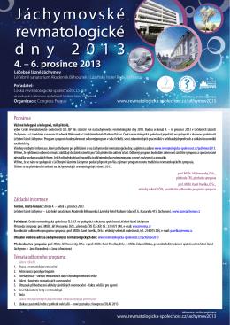 Pozvánka ke stažení - Česká revmatologická společnost ČLS JEP