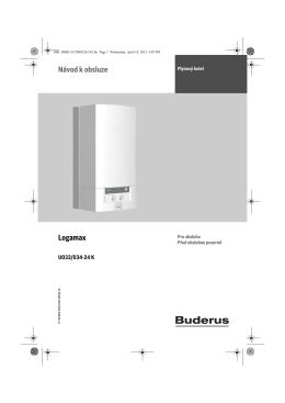 Uživatelský návod BUDERUS Logamax U032 U034