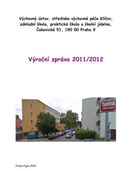 Výroční zpráva za školní rok 2011 - 2012