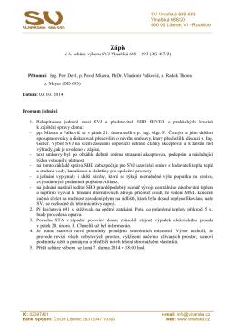 Zápis - 3.3.2014 - Společenství vlastníků Vlnařská 688-693