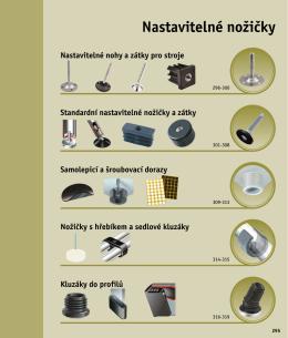 Nastavitelné nožičky