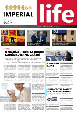 3·2014 - Společnost IMPERIAL KARLOVY VARY