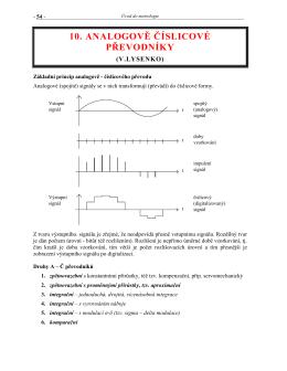 10 Analogově – číslicové a číslicově – analogové převodníky