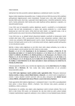 Plán digitalizace matrik pro rok 2014