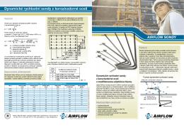 Dynamické rychlostní sondy z korozivzdorné oceli Airflow sondy