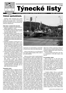 Týnecké listy - říjen 2010, formát PDF