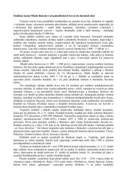 Osídlení území Mladé Boleslavi od paleolitických lovců do dnešních