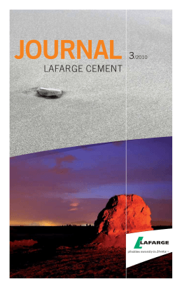 journal 3/2010 - Lafarge Cement a.s.