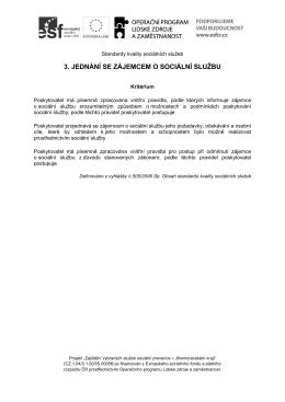 3.Jednání se zájemcem - Oblastní charita Břeclav