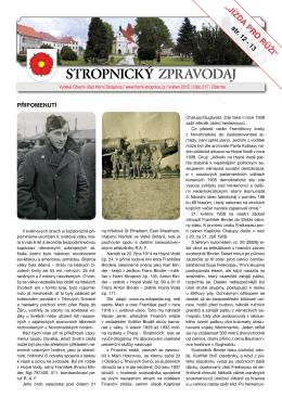 Zpravodaj 217 - Obec Horní Stropnice