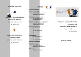Propagační leták - Pedagogicko