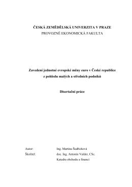 Zavedení jednotné evropské měny euro v České republice z
