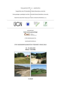 Stav geomorfologických výzkumů v roce 2013