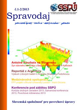Spravodaj - Slovenská spoločnosť pre povrchové úpravy