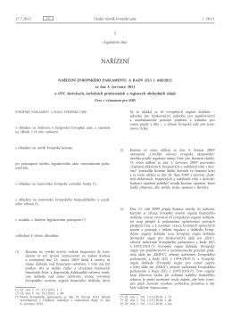Nařízení Evropského parlamentu a Rady (EU) č. 648/2012 ze dne 4