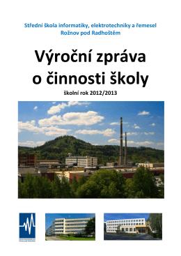 Výroční zpráva o činnosti ıkoly - SŠIEŘ