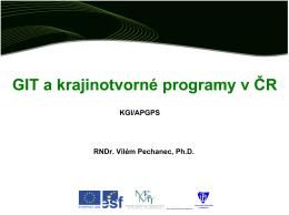 GIT a krajinotvorné programy v ČR (PDF) - ENVIrUP