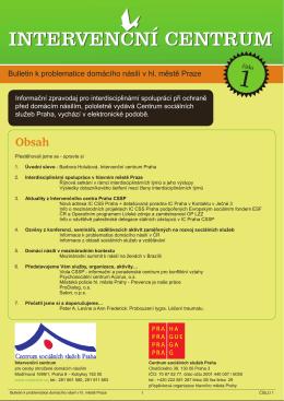 Bulletin k problematice domácího násilí v hl. městě Praze