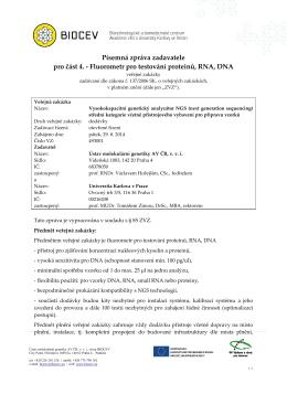 Písemná zpráva zadavatele pro část 4. - Fluorometr pro