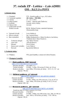 37. ročník ZP - Loštice – č.záv.620H1