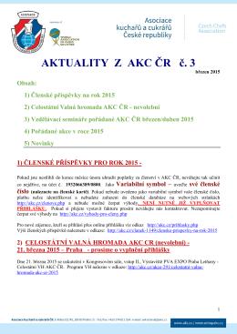 Aktuality z AKC ČR č. 3