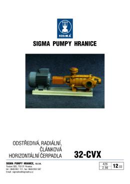 Prospekt - SIGMA PUMPY HRANICE, sro