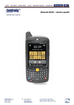 Motorola MC65 – návod k použití