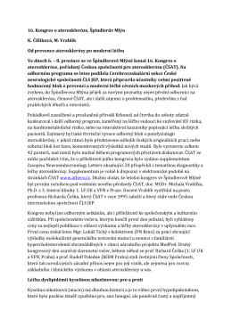 ZDE - Česká společnost pro aterosklerózu
